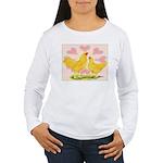 Buff Chantecler Hearts Women's Long Sleeve T-Shirt