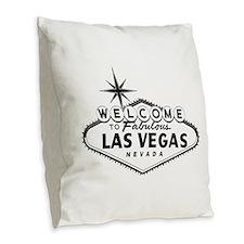 Welcome To Las Vegas Sign Burlap Throw Pillow