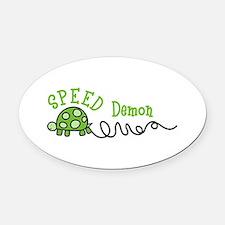 Speed Demon Oval Car Magnet