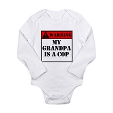 Warning My Grandpa Is A Cop Body Suit