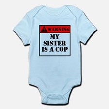 Warning My Sister Is A Cop Body Suit