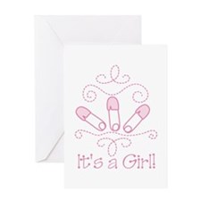 Its A Girl Greeting Cards