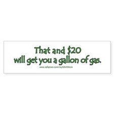 Expensive Gasoline Humor Bumper Bumper Sticker