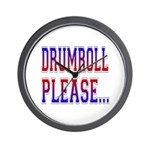 Drumroll Please Wall Clock