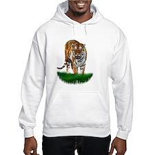 Tiger on Green Hoodie