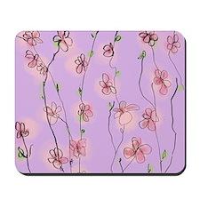 Cherry Blossom on Mauve Mousepad
