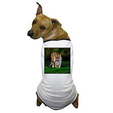 Tiger on Green Dog T-Shirt