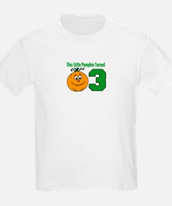 Little Pumpkin Turned Three T-Shirt