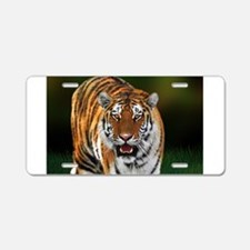 Tiger on Green Aluminum License Plate