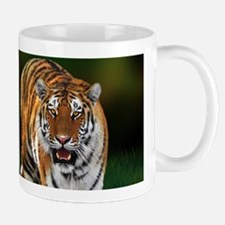 Tiger on Green Mugs