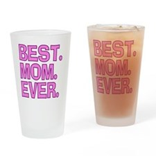 Best Mom Ever Pink Purple Drinking Glass