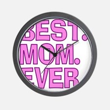 Best Mom Ever Pink Purple Wall Clock