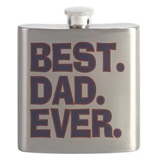 Best Dad Ever Blue Red Flask