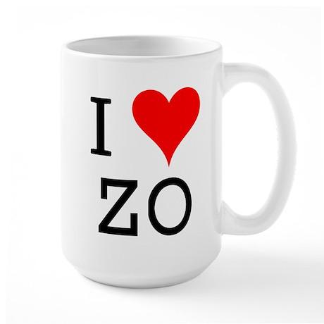 I Love ZO Large Mug