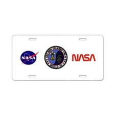 USS New Orleans & Apollo 14 Aluminum License Plate