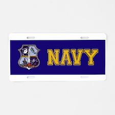 USS Okinawa & Apollo 15 Aluminum License Plate
