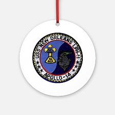 USS New Orleans & Apollo 14 Ornament (Round)