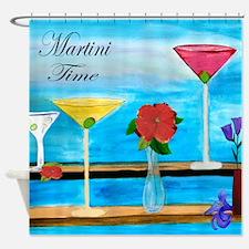 Martini Time Art Shower Curtain