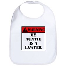 Warning My Auntie Is A Lawyer Bib