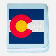 Colorado Flag Damask Pattern baby blanket