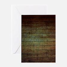modern woodgrain country decor Greeting Cards