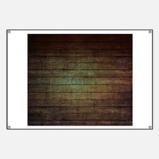 modern woodgrain country decor Banner