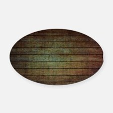modern woodgrain country decor Oval Car Magnet