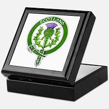 Scotland Thistle Badge Keepsake Box