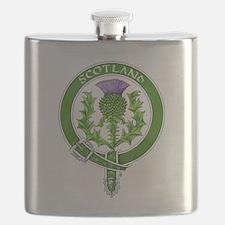 Scotland Thistle Badge Flask