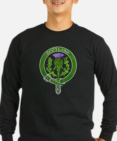 Scotland Thistle Badge Long Sleeve T-Shirt