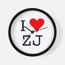 I Love ZJ Wall Clock