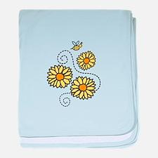 Bee Flower baby blanket