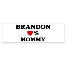 Brandon loves mommy Bumper Bumper Sticker