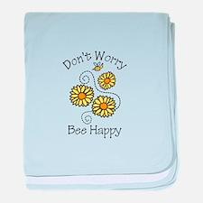 Dont Worry Bee Happy baby blanket