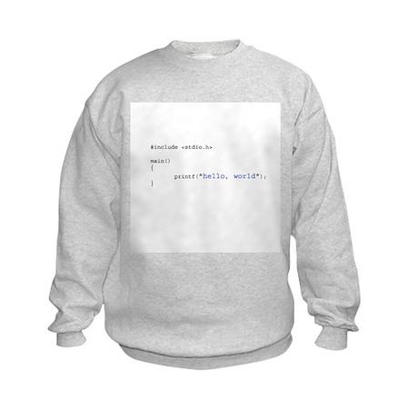 Hello, World Kids Sweatshirt
