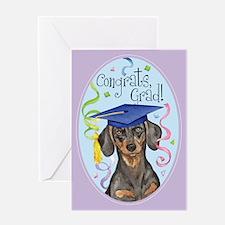 Dachshund Graduate Card Greeting Cards
