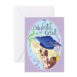 Chinese Crested Graduate Card Greeting Cards