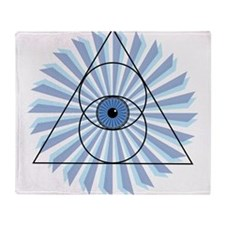 New 3rd Eye Shirt2 Throw Blanket