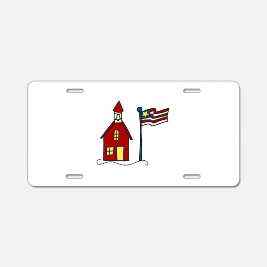 School House Aluminum License Plate