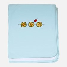Flower Ladybug baby blanket