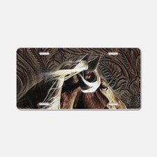 modern horse brown leather texture Aluminum Licens