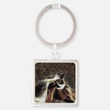 modern horse brown leather texture Keychains