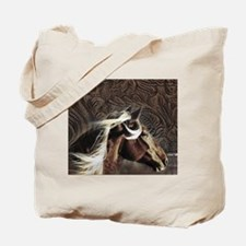 modern horse brown leather texture Tote Bag