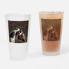 modern horse brown leather texture Drinking Glass