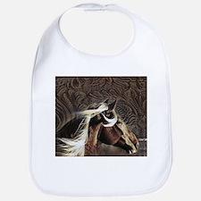 modern horse brown leather texture Bib