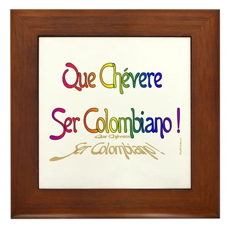Chevere ser Colombiano Framed Tile