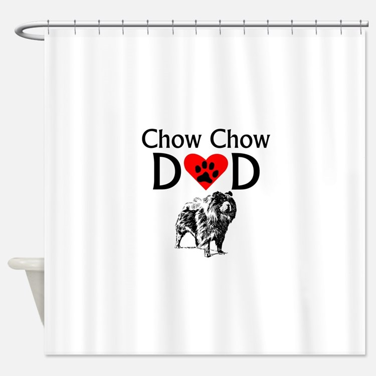 Chow Chow Dad Shower Curtain