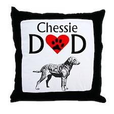 Chessie Dad Throw Pillow