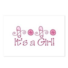 Its A Girl Postcards (Package of 8)