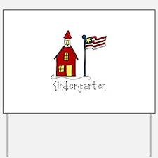 Kindergarten Yard Sign